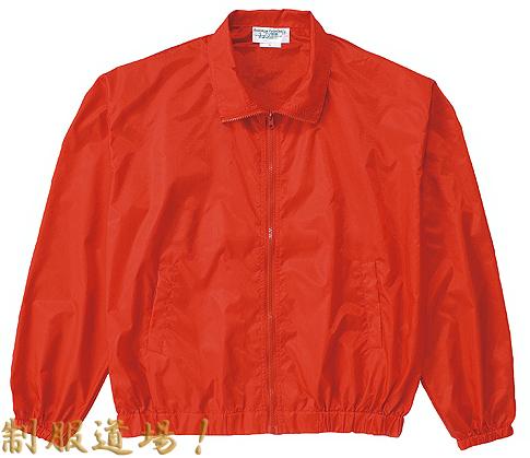 赤いナイロンジャンパー